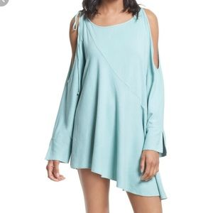[free people]cold shoulder tunic dress clear skies